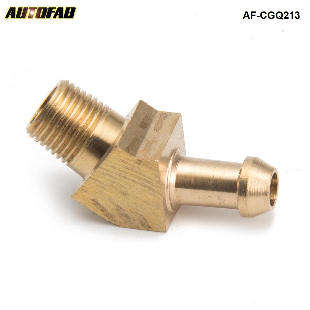 "Compresor de turbocompresor de latón Boost boquilla para manguera de ajuste para Garrett T2 T258 T3 Turbo 1/8 ""macho NPT 45 grados AF-CGQ213"