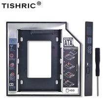 "TISHRIC Universele Aluminium 2nd HDD Caddy 12.7mm SATA 3.0 Voor 2.5 ""SSD Harde Schijf Driver Case Behuizing DVD CD-ROM Adapter Optibay"