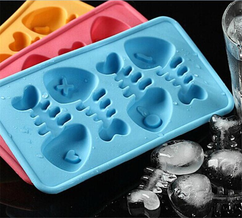 Novela divertido espina cócteles molde de silicona para hielo cubo bandeja molde de Chocolate Fondant bricolaje para bebidas de fiesta de Bar