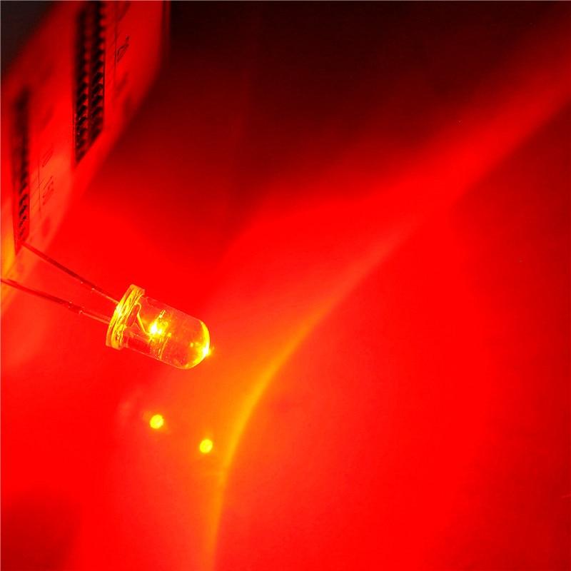 Led الادية 5 ملليمتر أبيض الشعر الأحمر ماوس مخصصة (1000 قطع)