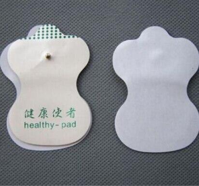 Nuevo 1 par de almohadillas de electrodos blancos para Tens acupuntura máquina de Terapia Digital herramientas de masaje gran oferta