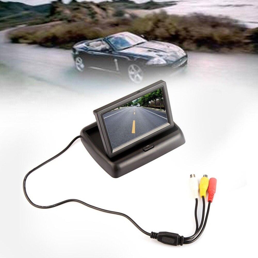 Pantalla de coche plegable sólida y práctica de 4,3 pulgadas sistema de imagen de marcha atrás Visual ENTRADA Av pantalla
