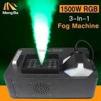 1500w 3-In-1 Fog Machine DMX512 Smoke Machine With RGB LED Professional Stage Machine Fogger Machine paty/bar/stage equipment