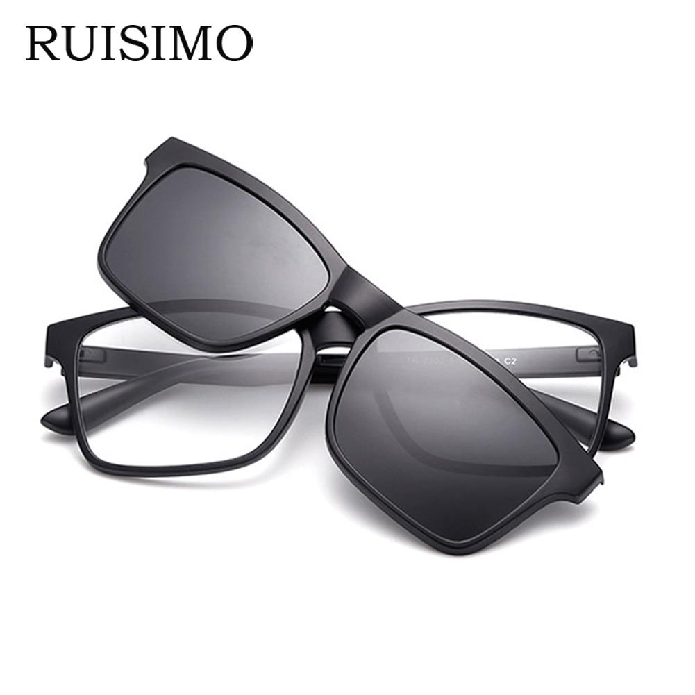 RUISIMO Men Eyeglasses Fashion Computer Glasses Frame Brand Design Plain Eye glasses retro de grau femininos