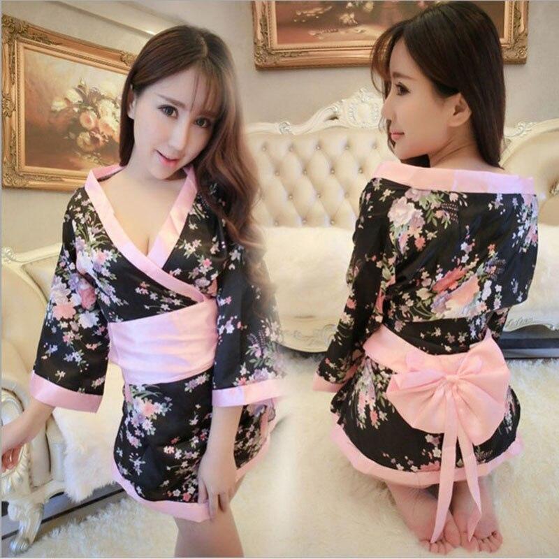 Sexy Lencería estilo japonés Sexy kimono atractivo uniforme tentación traje señorita estudiante show ropa Pijamas