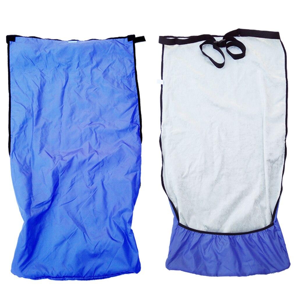 غطاء كرسي متحرك مقاوم للماء ، مقاوم للرياح ، غطاء كرسي متحرك بحزامين ، مقاس S (110 × 72 سم)/م (130 × 72 سم) ، أزرق