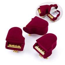 1 pièce unique piano velours boîte à bijoux bague de mariage boîte cadeau support de la boîte bijoux emballage pour boucles doreilles collier Bracelet affichage