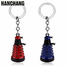 HANCHANG gizemli Dr doktor Dalek anahtarlık uzaylı Robot kötü mavi kırmızı anahtarlık anahtarlık anahtarlık aksesuarları hatıra