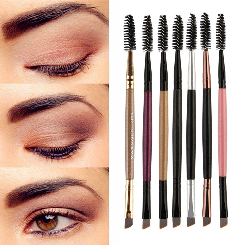 HOT Eyebrow Brush Beauty Makeup Wood Handle Eyebrow Brush Eyebrow Comb Double Ended Brushes Brushes Make Up 16.5cm
