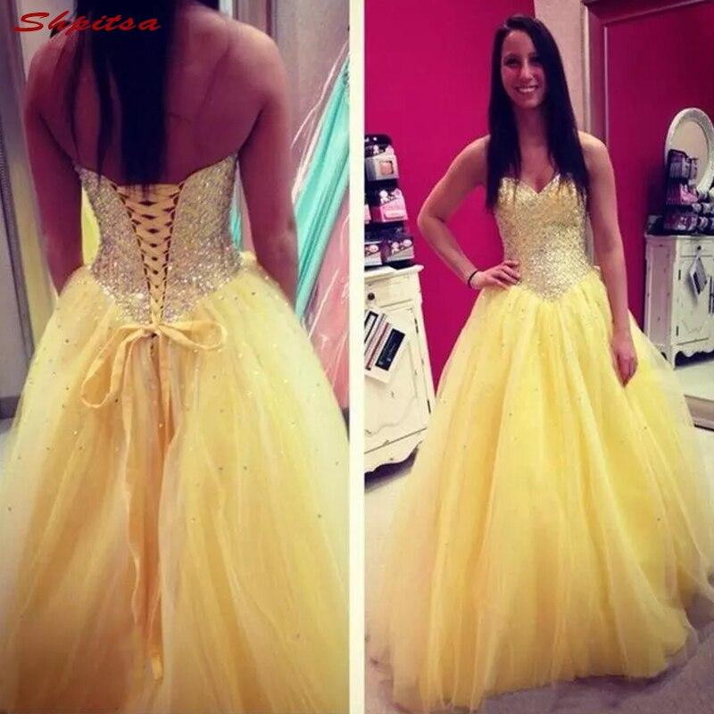 Vestidos amarillos de Madre de la novia para boda de talla grande vestidos de novia con cuentas de una línea vestidos de noche novio madrina vestidos de cena 2018