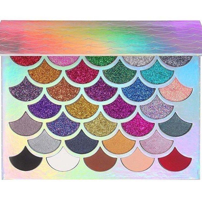 Paleta profesional de sombra de ojos de sirena Nocturne, paleta de maquillaje de 25 colores, paleta de sombras de ojos pigmentadas con brillo mate