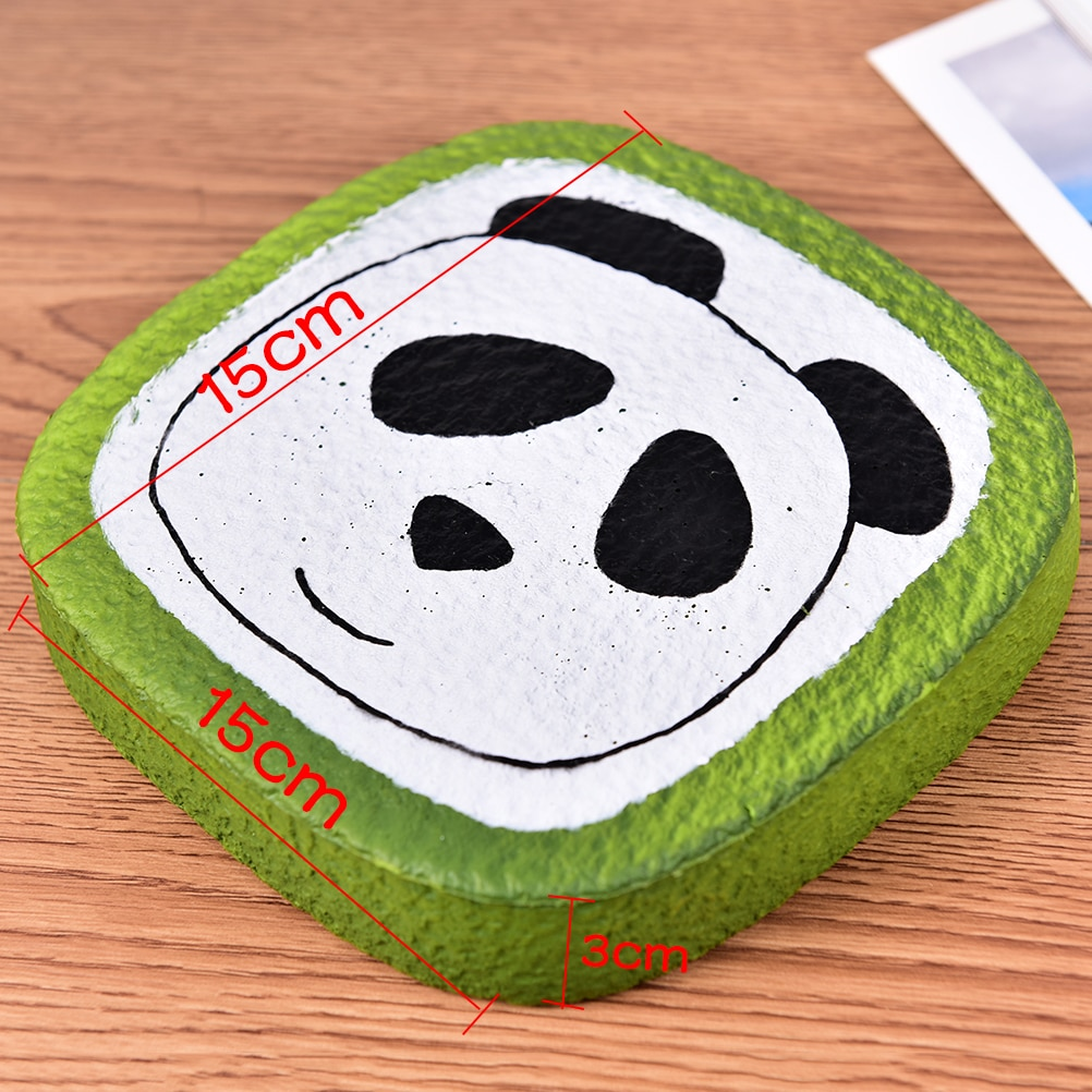 Correas de teléfono de aumento lento Panda tostada Jumbo pan Mochi pan perfumado colgante pastel chico divertido juguete regalo