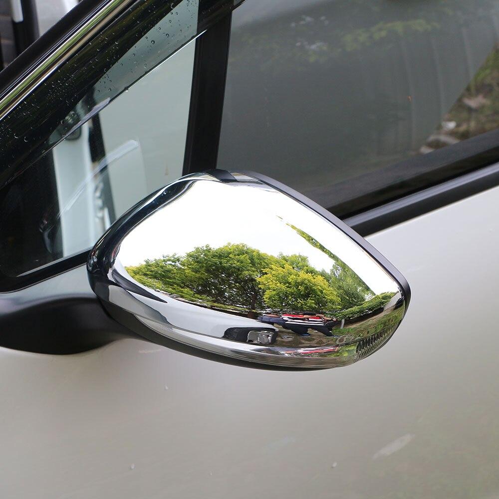 Jameo auto abs chrome proteção espelho retrovisor do carro cobre espelho retrovisor adesivos para peugeot 208 2014-2017 acessórios