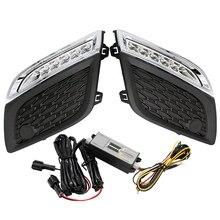 Kaplama tarzı LED gündüz çalışan işık LED DRL LED günışığı Dimmed fonksiyonu Volvo XC60 2011 2012 2013