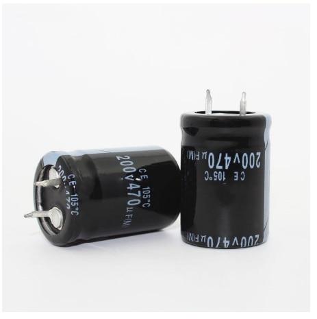 200V470UF 470 мкФ 200V Объем электролитного конденсатора 22*35 мм 22X40MM лучшего качества