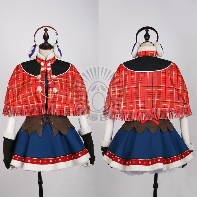 Minami Kotori Lovelive! URSR Awakening Cosplay traje de nieve de invierno vestido porque B