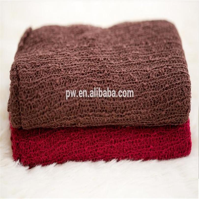 35 pieces/lot 40cm x 150cm Newborn Wraps Baby Knit stretch Wrap Baby Swaddle Blanket Layer Prop Newborn Photography Props