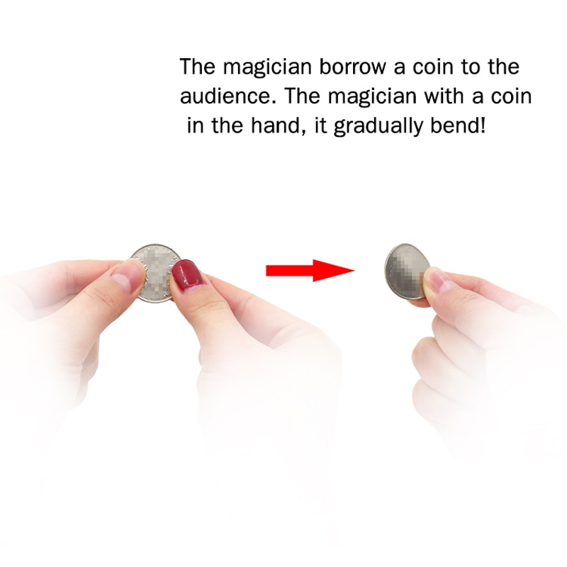 Bender Coin Magic Tricks Bend Signed Coins SUPERMAN BENDING NOT METAL QUANTUM Magician Magic Gimmick