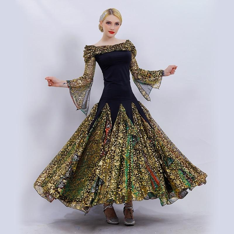 Falda de salón, Ropa de baile para mujer, Vals, baile, falda de flamenco, tops de baile para chicas, trajes de salón, vestidos de baile, vestidos de baile