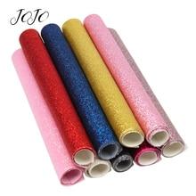 JOJO-tissu à paillettes mince 22*30cm   Feuilles solides scintillantes, nœuds de cheveux, matériel de couture, pour décoration de fête