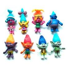 New 8PCS/SET Magic wizard Bobby Blanc Su Crick Genuine troll dolls 11cm original magic wizard plastic oyuncak christmas gift