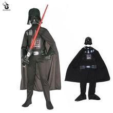 Star Wars Costumes enfants la Force réveille personnage de méchant dark vador déguisement Halloween Costumes pour enfants garçon combinaison Cosplay