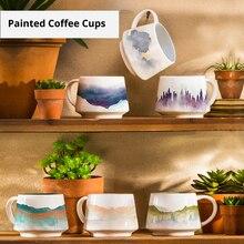350ml tasses à café en céramique créatives boîte-cadeau bureau ménage tasses à café coloré tasse à thé porcelaine eau tasses à boire