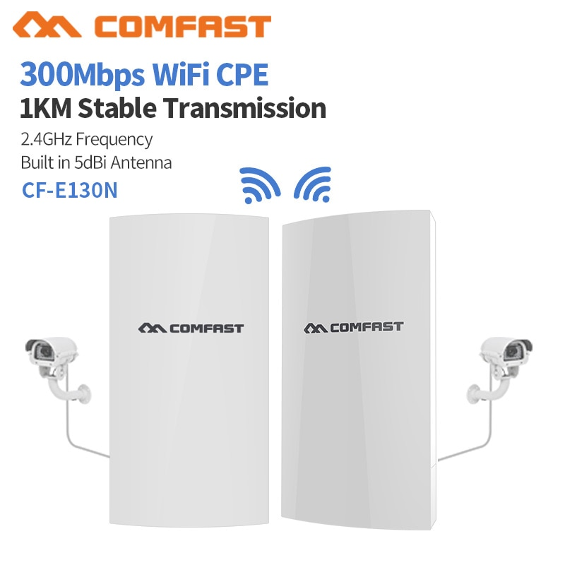 COMFAST CF-E130N 1KM Mbps 2,4 Ghz Outdoor Mini Wireless AP Brücke WIFI CPE Access Point 5dBi WI-FI Antenne Nanostation CPE