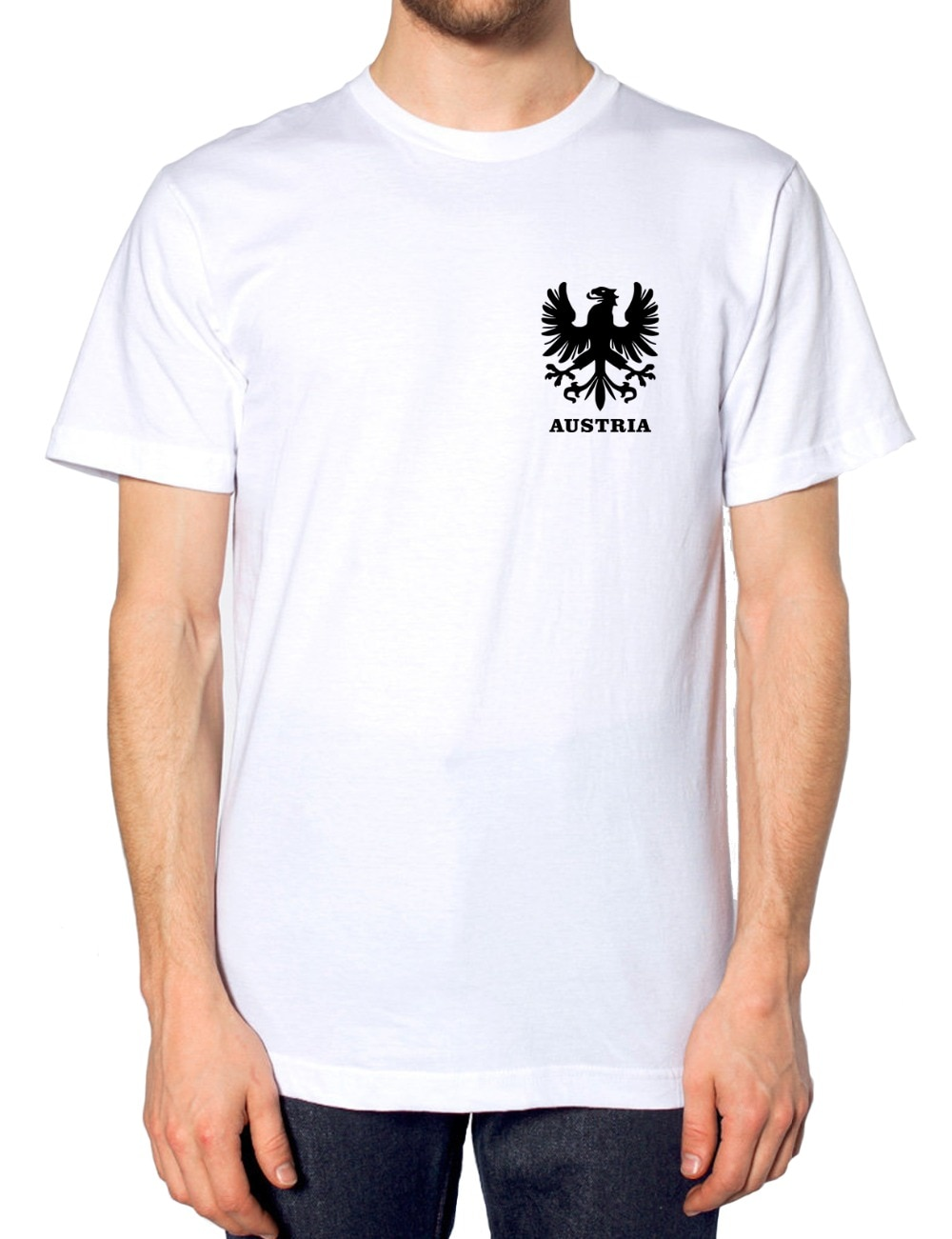 2019 moda engraçado homme moda masculina topos retro austríaco futebolista camisa t camisa 2019 áustria águia do vintage t camisa design
