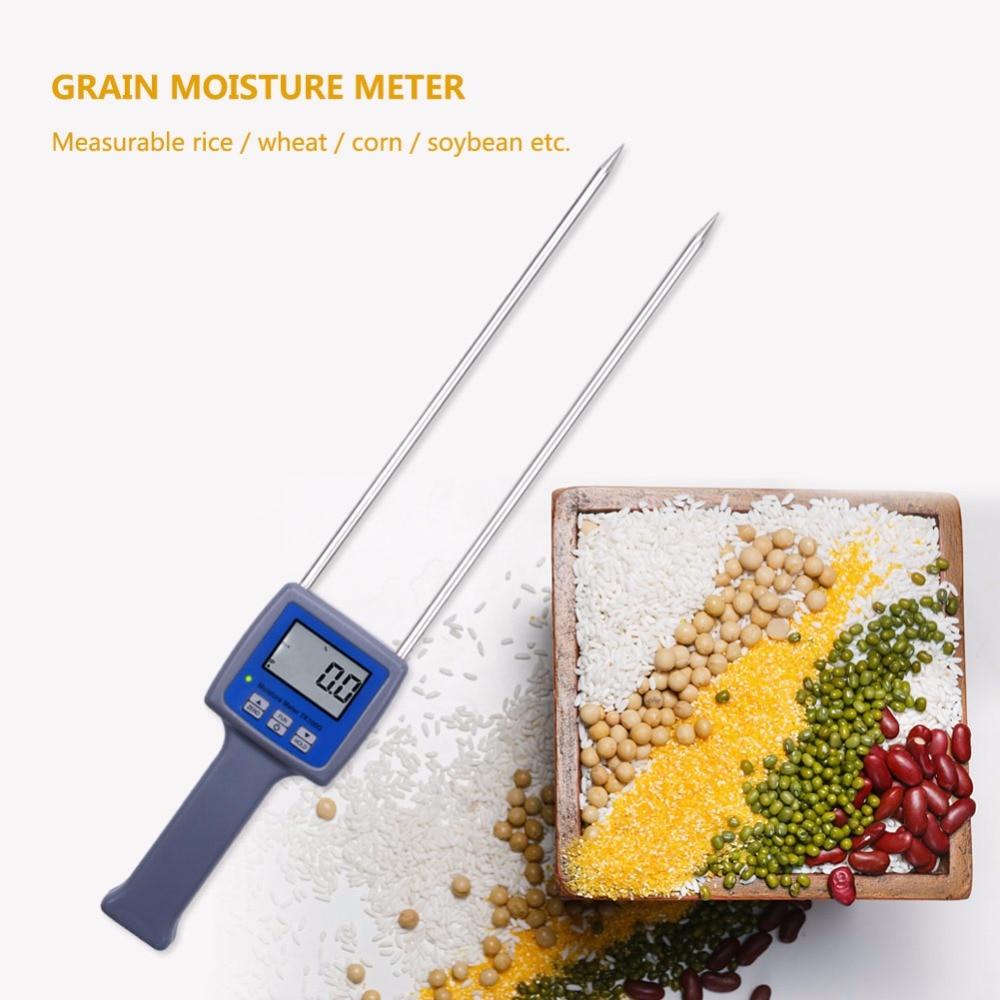 Измеритель влажности для зерен TK100G, измеритель влажности для кукурузы, сои, риса, ячменя, гигрометр