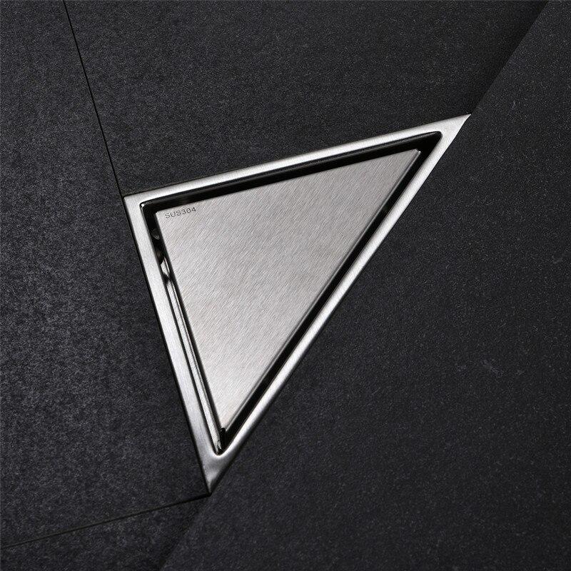 Envío Gratis, desagüe de ducha tipo triángulo oculto, rejillas de desecho para suelo, 232mm x 117mm, drain11-184 de suelo de acero inoxidable 304