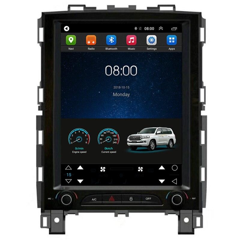 """10,4 """"Tesla Vertical Android coche Multimedia radio estéreo de navegación GPS de Audio DVD se sentó unidad principal de navegación para Renault Koleos 2017, 2018"""