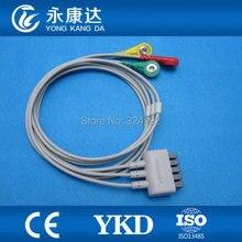 Câble de moniteur ECG, câble de coffre ecg à 3 fils avec IEC, Snap pour GE-Medical Marqutte Dash 2000