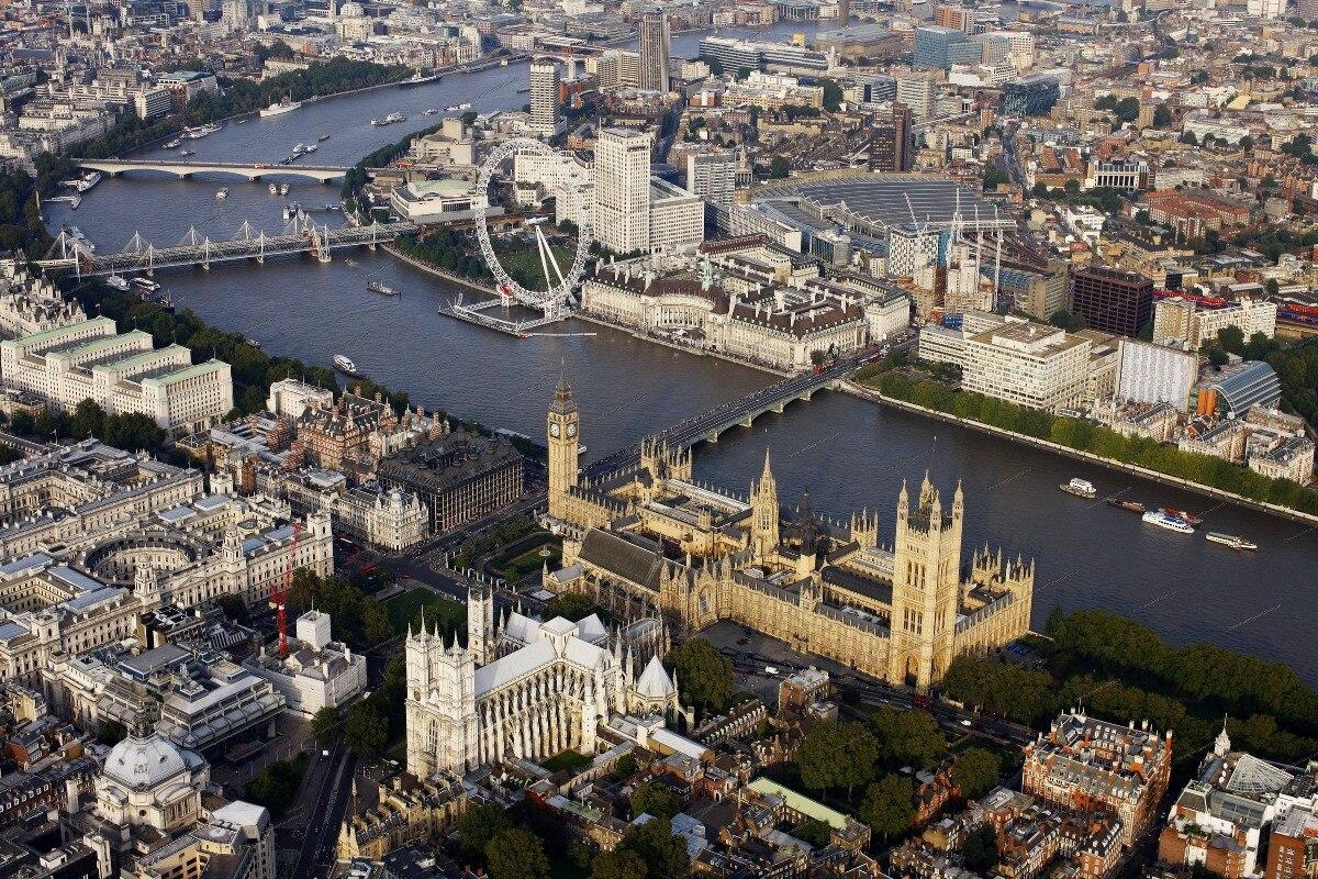 Лондонский глаз Биг Бен часы Вестминстер обзор 290FJ (рамка доступна) пользовательские ткани плакат Настенный декор комнаты украшение дома