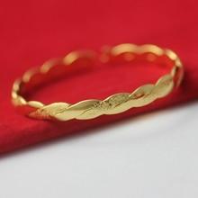 Bracelet en forme de C torsadé or jaune rempli de femmes bracelet manchette cadeau