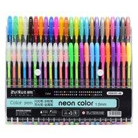 48/36/24/18/12 Colors Gel Pens Set Glitter Gel Pen for Adult Coloring Books Journals Drawing Doodling Art Markers