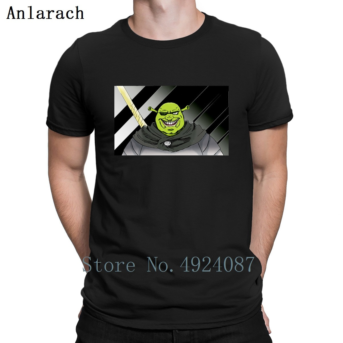 Shrek Anime edición camiseta bonito crear la mejor calidad camisa de diseñador raro verano 2019 Camiseta de algodón Simple para hombre