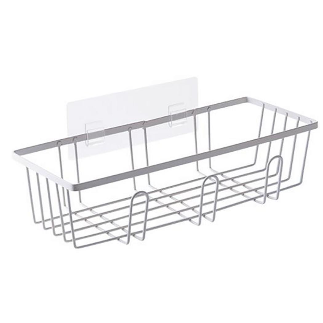 Soporte organizador de baño estante de pared Blanco sólido de succión, estante de Almacenamiento negro Almacenamiento de loción