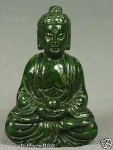 Pendentif de bouddha sculpture en JADE vert   Travail manuel chinois, ancien pendentif de bouddha, NETSUKE
