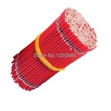 40 CM 5mm halb streifen off UL 1007 24AWG rot flexible 20 teile/los 24 AWG pvc-isolierte Draht Elektrische kabel, LED kabel,