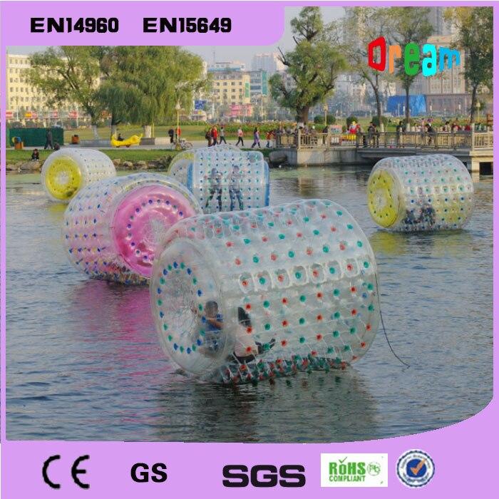 Bola inflable del rodillo del agua del PVC del envío gratis 2,2 m bola que camina del agua bola inflable del rodillo del agua