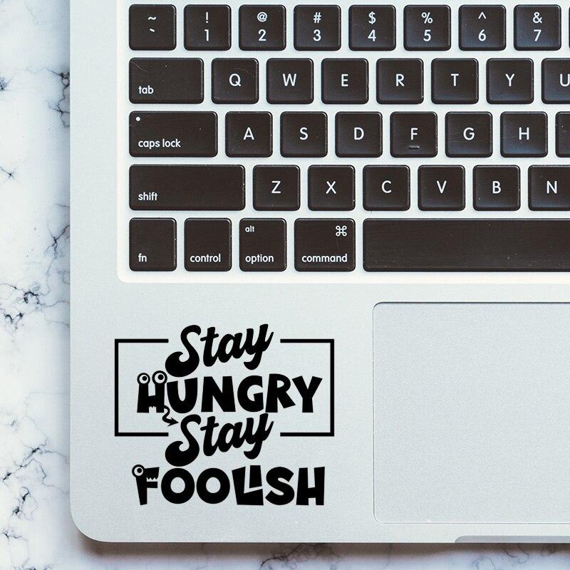 Etiqueta engomada del ordenador portátil del Trackpad de vinilo de la cita divertida de la historieta para MacBook Pro Air Retina 11 12 13 15 pulgadas Mac Notebook panel táctil de la piel