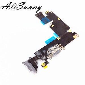 Image 1 - 5 шт., гибкий кабель для зарядки iPhone 6 Plus 6G, 5,5 дюйма, USB док станция, аудио разъем, запасные части