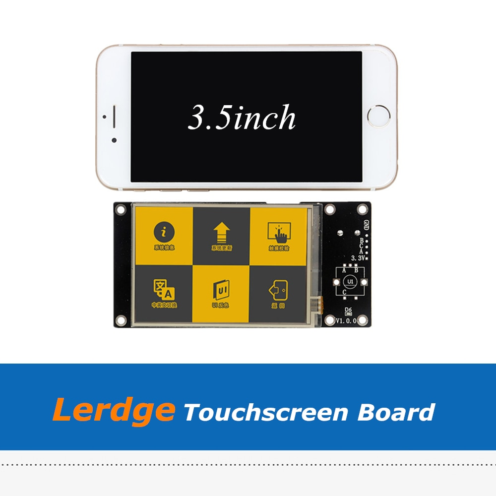 1 unidad de placa de pantalla táctil Lerdge a todo Color de 3,5 pulgadas para controlador de ARM32-bit lerdge-x lerdge-s lerdge-k Placa de impresora 3D