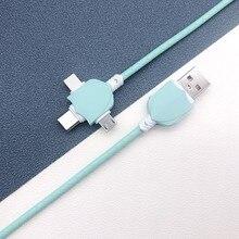 Universal 3 in 1 USB ladekabel für iPhone Andriod USB Typ C Micro USB Kabel für iPhone 6 7 8 X Handy Daten Kabel