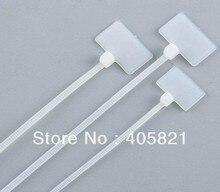 Marque de câble en nylon taille de létiquette   250 pièces/sac 4*200 marqueur attaches de câble/plaque détiquette W15mm * L25MM
