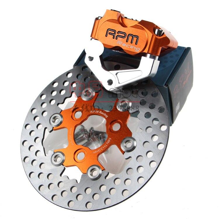 Pinza de freno para motocicleta Scooter + soporte de adaptador de bomba de freno de disco de 200mm/220mm + disco de freno para Yamaha Aerox Nitro BWS 100 JOG rr 50