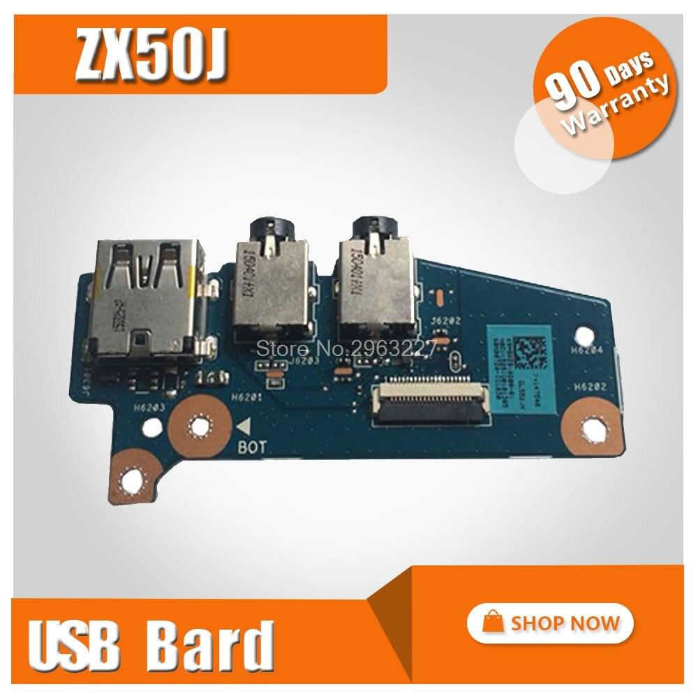 لوحة مفاتيح الكمبيوتر المحمول Asus zx50j, مزودة بمخرج USB صغير ، لوحة صوتية