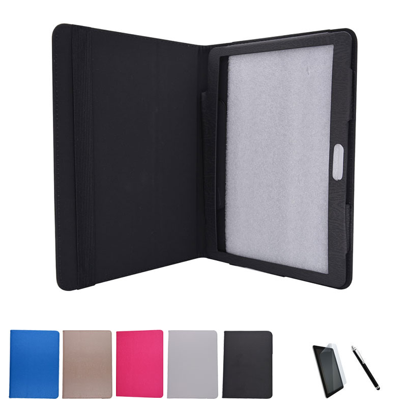 "PU Leather Case Suporte Capa para FLYCAT Unicum 10 10.1 ""Tablet PC + Tela de Proteção Film + Stylus Pen"