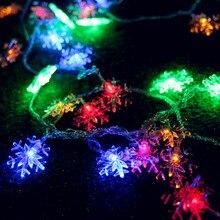 10m Snowflower Garland LED Christmas Lights Outdoor Natal LED Cristmas Decoration LED String Fairy Lights Luces De Navidad